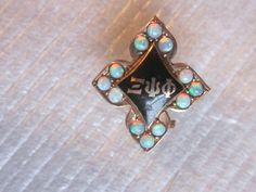 Antique 1903 14K Solid Gold Opal Xi Psi Phi Fraternity Sorority Pin
