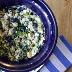 Blueberry Chicken Pesto Salad