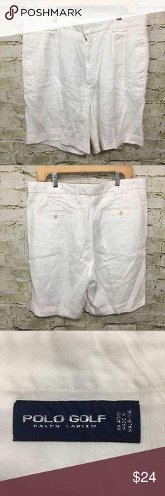 2ff820449 Ralph Lauren Polo Golf White Linen Shorts Ralph Lauren Polo Golf Mens Size  36 X 9