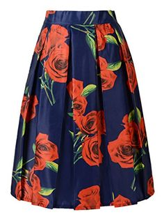 Choies Women's Dark Blue Rose Floral Print Midi Skirt Choies http://www.amazon.com/dp/B011BKHGFY/ref=cm_sw_r_pi_dp_aBtxwb11CVJ02