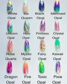 Holographic opal nails