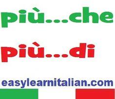 http://www.easylearnitalian.com/2013/09/comparativo-di-maggioranza-italian.html #learn #Italian