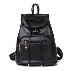 b3d9064ced5f  Новый женский рюкзак известные бренды плечи женские дорожные сумки  высокого качества mujer старинные искусственная кожа с мягкой черной  школьная сумка ...