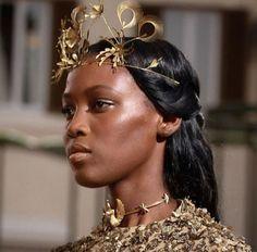 Golden Goddess: Kai Newman for VALENTINO Haute Couture Autumn...