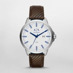Smart Watch With iridescent blue details, a textured dial, a date window, and a…