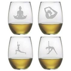 Perfect for yoga practitioners and lovers everywhere! Share your yoga love and appreciation and give these glasses as a gift!
