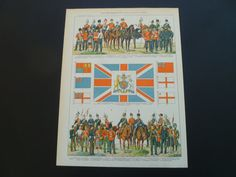 Old militaria print about military uniforms by DecorativePrints, €13.95