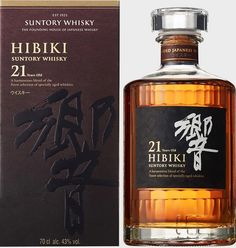 Suntory Whisky Hibiki 21 Years Old (New Box) Peach Drinks, Fun Drinks, Alcoholic Drinks, Wine And Liquor, Wine And Beer, Scotch Whiskey, Bourbon Whiskey, Suntory Whisky, St Patricks Day Drinks