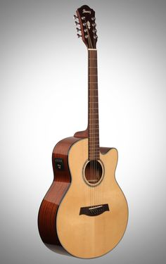 """Ibanez AEL series 8 string acoustic.  Not what you'd expect when you hear """"Ibanez 8 string"""" It's a standard tuned acoustic with doubled/octave D and G strings (like a 12 string guitar would have)."""