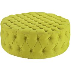 Modway Furniture Amour Fabric Ottoman Green By (955 PEN) ❤ liked on Polyvore featuring home, furniture, ottomans, tufted footstool, round tufted ottomans, round upholstered ottoman, green ottoman and fabric ottoman