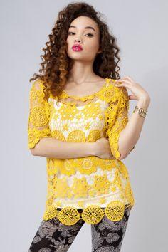 Cora Crochet Top $28