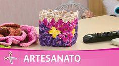 Vida com Arte   Porta treco em crochê por Cristina Luriko - 13 de fevere...