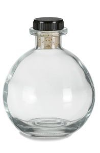 This 8 oz Round Corked Bottle from gives a unique look to your wedding favors, scented oils and more! Wholesale prices and no minimum order required! Painted Wine Bottles, Bottles And Jars, Glass Bottles, Perfume Bottles, Wine Glass, Mason Jars, Glass Bottle Crafts, Bottle Art, Beer Bottle