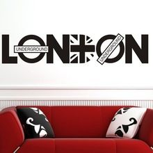 2014 LONDON Letter PVC Removable Room Vinyl Decal DIY Wall Sticker Home Decor free Shipping(China (Mainland))