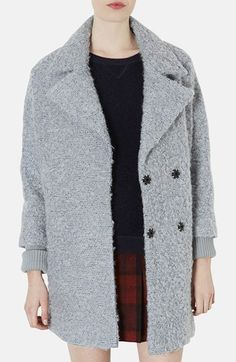 Topshop 'Amelie' Slouchy Boyfriend Coat available at #Nordstrom