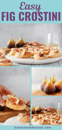 20 minutes · Serves 24 · For an easy appetizer recipe highlighting fresh, seasonal flavors, look no further than this fig crostini with ricotta and prosciutto. This easy recipe makes a great appetizer or light meal and is the perfect balance of sweet, salty, and savory. Easy Appetizer Recipes, Appetizers For Party, Starter Dishes, Dessert Cake Recipes, Fresh Figs, Food For A Crowd, Prosciutto, Light Recipes, Ricotta