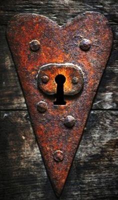 Heart-shaped key hole ...details with heart