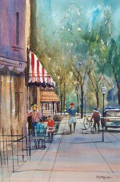 Summer in Cedarburg Painting