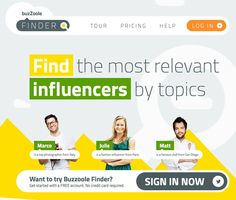 New intuitive tool for finding the best online influencers. Check it out... #buzzmarketing