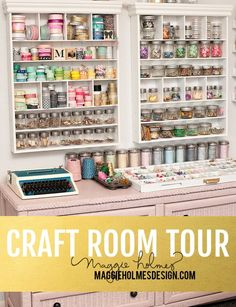 Maggie Holmes Craft Room Tour.  Love the pics. Great craft studio!
