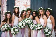 flower crown bridesmaids **love the neutrals/blush and cream/green only in the florals