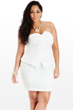 Dress Ideas for Curvy Women | SPRING TRENDS: ALL WHITE PLUS SIZE ...