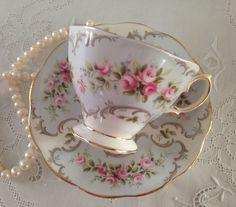 "Royal Albert China Tea cup and Saucer ""Marie"" Pattern Teacup Set on Etsy, Sold"