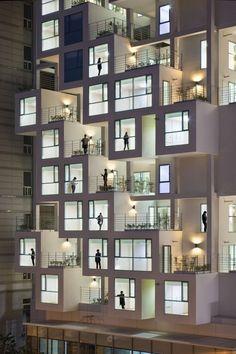 Blog Architecture, Social Housing Architecture, Architecture Building Design, Facade Design, Sustainable Architecture, Residential Architecture, Contemporary Architecture, Pavilion Architecture, Building Facade