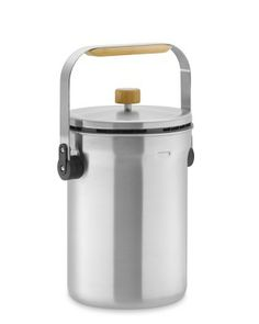 simplehuman™ Compost Pail #WilliamsSonoma  This stainless-steel pail features simplehuman's patented odorsorb™ filter to absorb food odors naturally. The large bamboo handle makes it easy to carry out to the compost bin, and you can hang the lid right on the rim while filling.