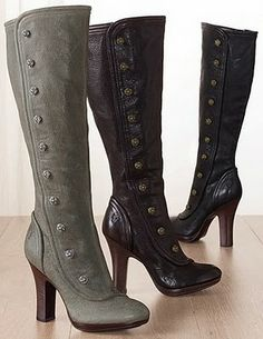 Frye button boots. I wanted these boots soooooooo badly. Just could not justify a $448+ price tag...