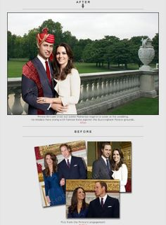 Addition of turban and scarf over Prince William's formal suit.  http://www.freephotoediting.com/samples/add-to-remove-from-group/042_prince-william-to-dress-like-maharaja-for-wedding.htm