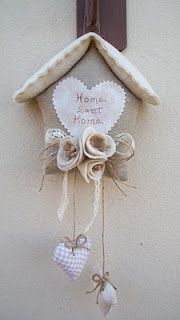 home sweet home love this with the dark beige muslin or linen - use my little house pattern.