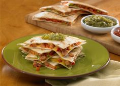 ... chicken chipotle sausage quesadillas- good for a quick light lunch