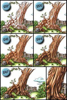 Forgotten Scraps: MiC Alice in Wonderland Release - coloring tree trunks