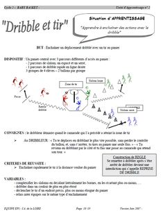 Des modules d'apprentissage pour le hand-ball et le basket au cycle 2 et au cycle 3.