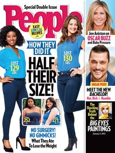 ON NEWSSTANDS 12/26/14: Weight-Loss Winners! How Two Women Dropped a Combined 259 Lbs.