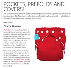 Pockets, Prefolds and Covers -- Oh My! Love seeing Charlie Banana in the news. Another great @SheKnows feature.