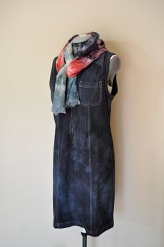 Black Medium Denim DRESS Jumper  Black Onyx by DavidsonStudio, $32.00