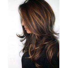 Balayage Hair Color Ideas in Brown to Caramel Tones Hair Color Balayage, Hair Highlights, Caramel Highlights, Caramel Balayage, Chocolate Highlights, Haircolor, Color Highlights, Auburn Balayage, Subtle Balayage