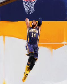 more photos 79396 377f8 Paul George is an All-Star. He s also the subject of a new RareInk piece.  The vibrant artwork of Denis Gonchar amplifies the explosive play of PG, ...