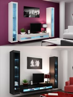Luxury Wall Mounted Cabinets for Living Room