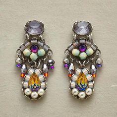 FLIGHT OF FANCY EARRINGS - Our whimsical Flight of Fancy Earrings glitter with lighthearted charm.