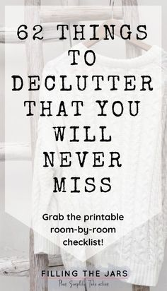 Im so glad I found this printable decluttering checklist! If you don't know what to declutter first, you need this list! Breaking down decluttering room-by-room is genius -- and I cant believe it, but I really dont miss all the junk that used to clutte