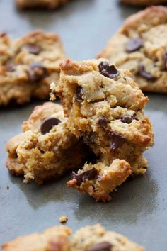 Sometimes you just want to make a batch of Perfect (Paleo) Chocolate Chip Cookies for no reason at all other than the fact they are healthy, simple and delicious! These are those (healthy) cookies. Paleo Chocolate Chip Cookie Recipe, Healthy Chocolate Chip Cookies, Paleo Cookies, Chocolate Recipes, Paleo Sweets, Paleo Dessert, Healthy Desserts, Dessert Recipes, Cookie Recipes