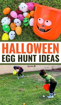 Halloween Egg Hunt Ideas, a Fun Halloween alternative for Social Distancing Trick Or Treat Celebration