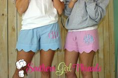 Our seersucker lounge shorts are great for relaxing in style at the beach, pool, lake, around the house, even for a stylish comfy look to run those quick errands or bridesmaid gifts and a pair for the girls in the family on vacation by southerngirlthreads.com