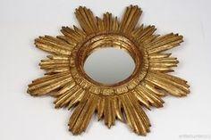 изящный позолоченная звезда / золотистый зеркало * композиция * - винтажный итальянский 1970 ´ S - # 3 in Антиквариат, Декоративное искусство, Зеркала | eBay