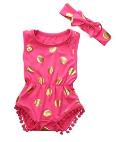 Cheap baby girl clothes, Buy Quality baby romper sets directly from China set newborn Suppliers: Pretty Baby Rompers Sets Newborn Baby Girl Clothes Polka Dot Romper Jumpsuit + Headbanf Children Girls Sunsuit Outfits Suits Cute Newborn Baby Girl, Baby Girl Romper, Baby Girls, Toddler Girl, Toddler Jumpsuit, Baby Shop Online, Toddler Headbands, One Piece Outfit, Costume