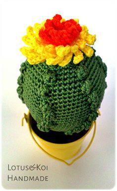 Cactus all'uncinetto - Crocheted Cactus  #cactuscrocheted #crochet #diy #amigurumi