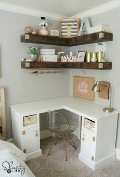 Best Of Corner Desk Shelf Unit